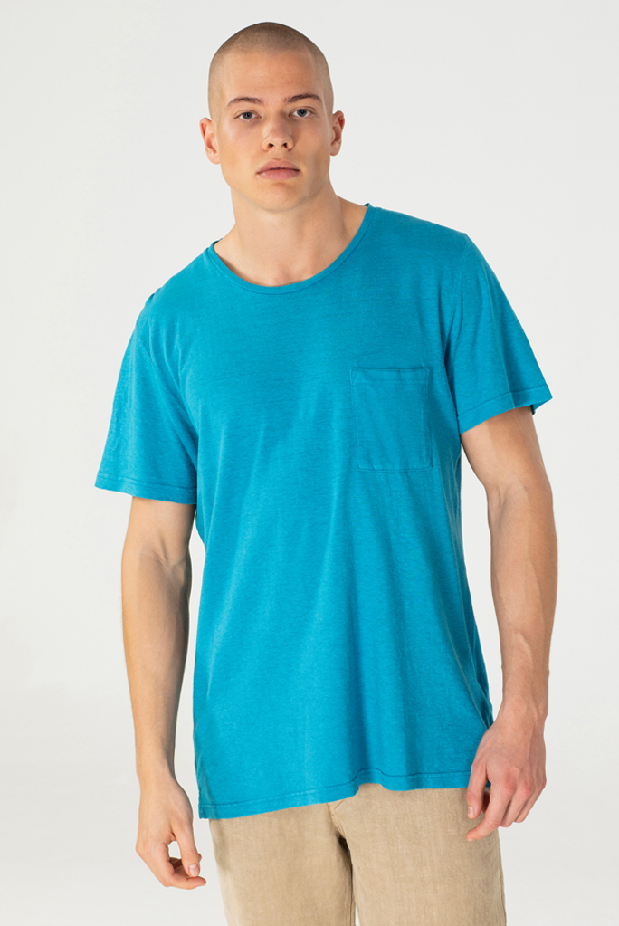 Breast Pocket T - Hovito - Lucid Aqua